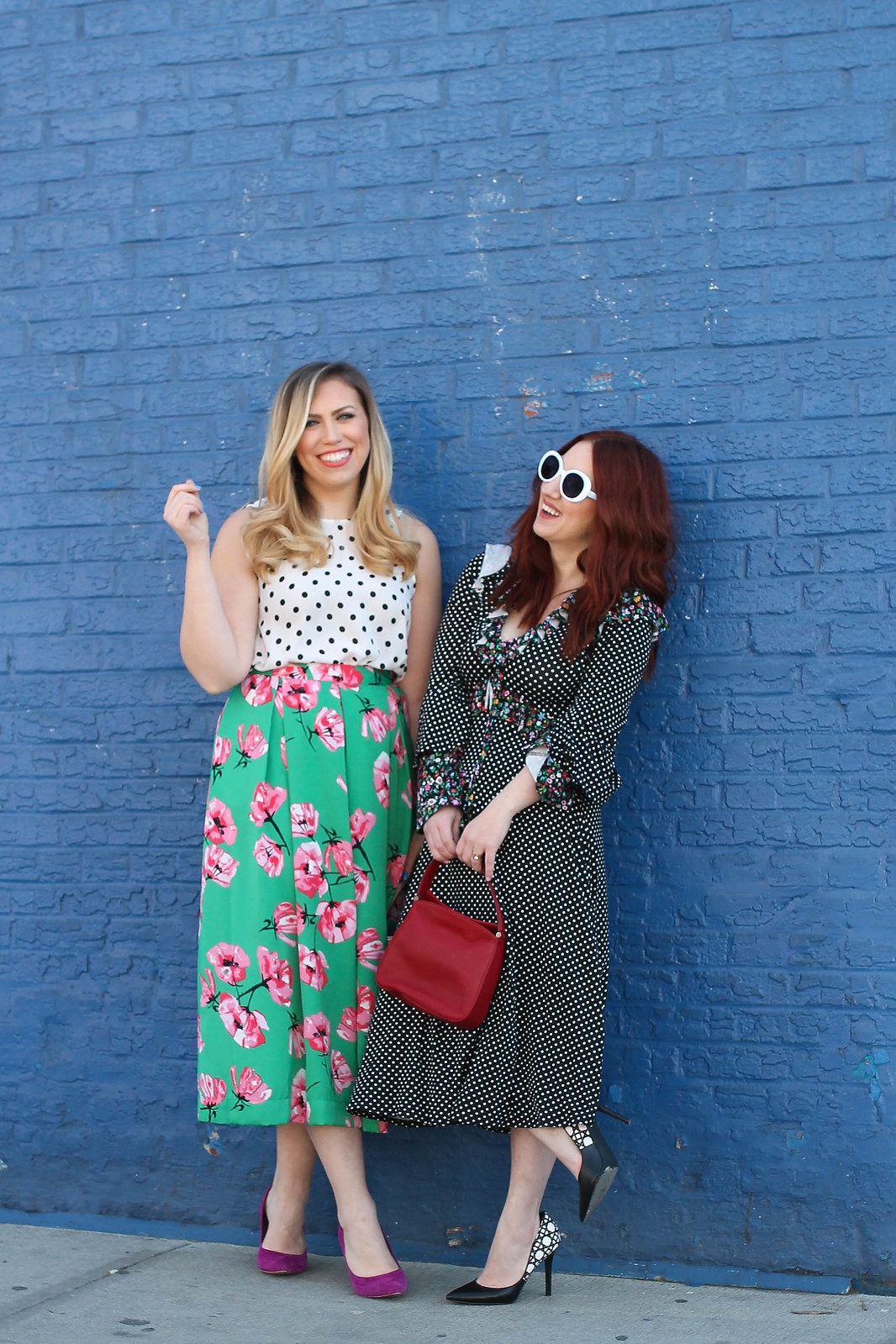 2 Ways to Mix Polka Dots and Floral Print Spring Colorful Outfits New York Style Bloggers Jackie Giardina Living After Midnite