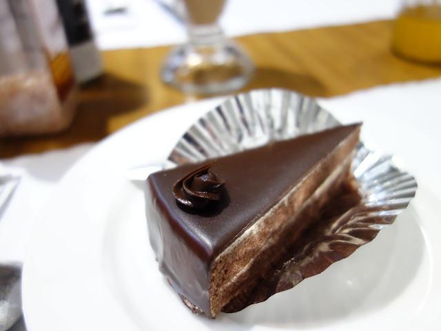 甜點的巧克力蛋糕@永和阿里小廚