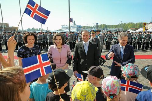 Islannin presidentti Guðni Th. Jóhannessonin ja puoliso Eliza Reidin valtiovierailu Suomeen 14.–17. toukokuuta 2018.
