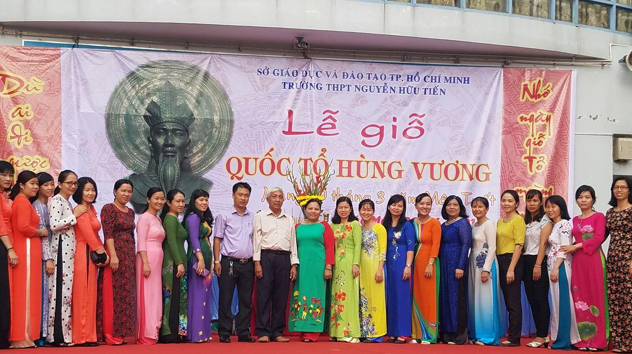 Trường Thpt Nguyễn Hữu Tiến tổ chức Lễ giỗ Quốc tổ Hùng Vương