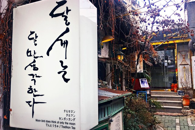 Moon Bird Does Think Of Only The Moon - Insadong - Seoul - South Korea (TeaHouse)