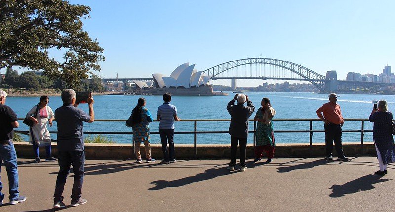 Sydney Harbour tourists