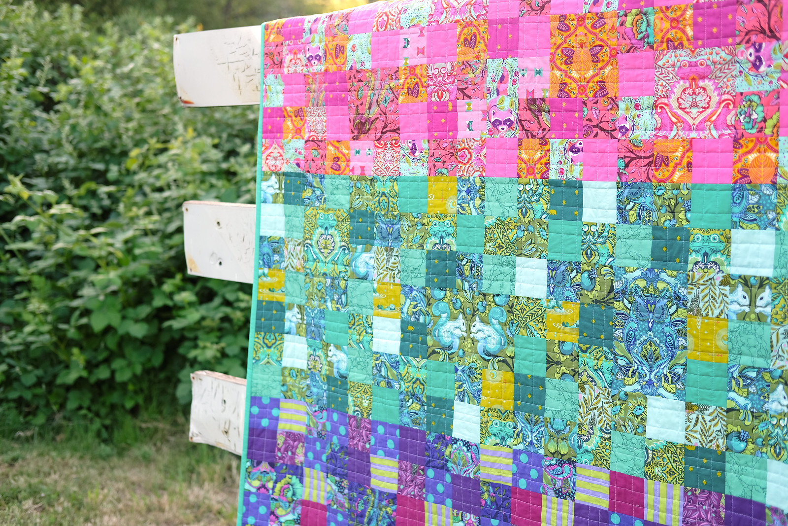 Tula Pink Fussy Cut Patchwork Quilt