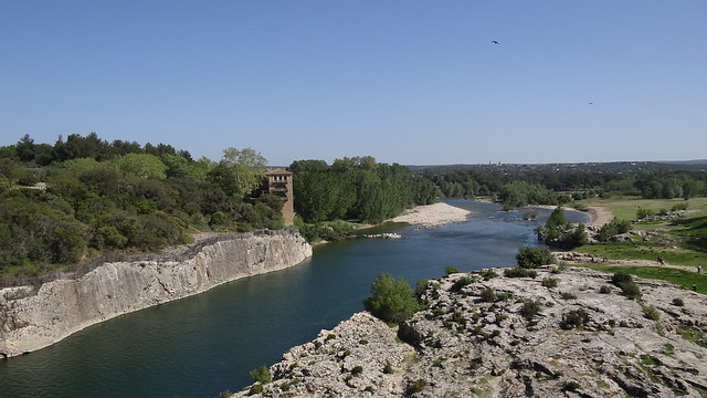 Gardon River from Pont du Gard