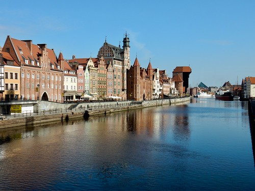 The River Motlawa, Gdansk, Poland.