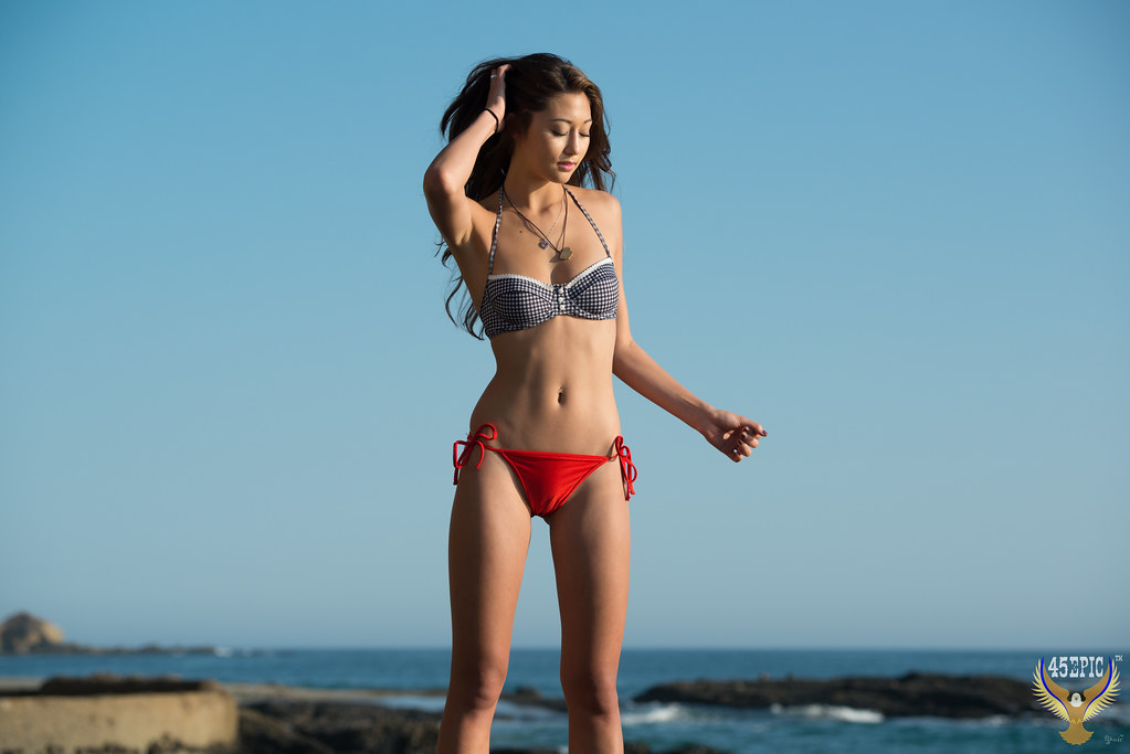 94861110d0 Beautiful Asian Bikini Model Goddess! 45Epic 45SURF Swimsuit Bikini Model! Pretty  Golden Ratio Composition