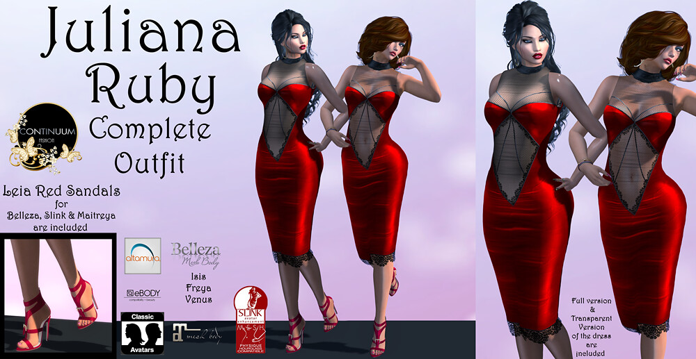 Continuum Juliana Ruby Complete Outfit