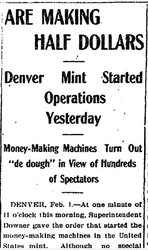 first Coins of Denver Mint headline