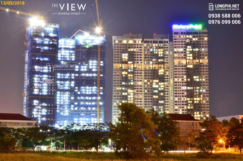 Cập nhật tiến độ thi công dự án căn hộ The View - Riviera Point ngày 13/05/2018. Ảnh: Hoàng Long (LongPhi.net).