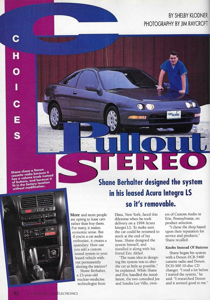 Shane Berhalter 1994 Acura Integra Ls 1996 Ca E
