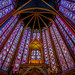 stained glass of the Sainte Chapelle.