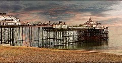 The Pier . Eastbourne, East Sussex, UK. Another interesting oldie of mine. . . . #eastbournepier #eastbourne #pier #beach #seafrontview #seafront #shingles #pebbles #seasidetown #seaside #victoriandesign #vintagestyle #chrislord #chrislorddotnyc #pixielat