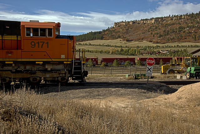 BNSF 9171 Empty Coal Train-North of Palmer Lake, Colorado.