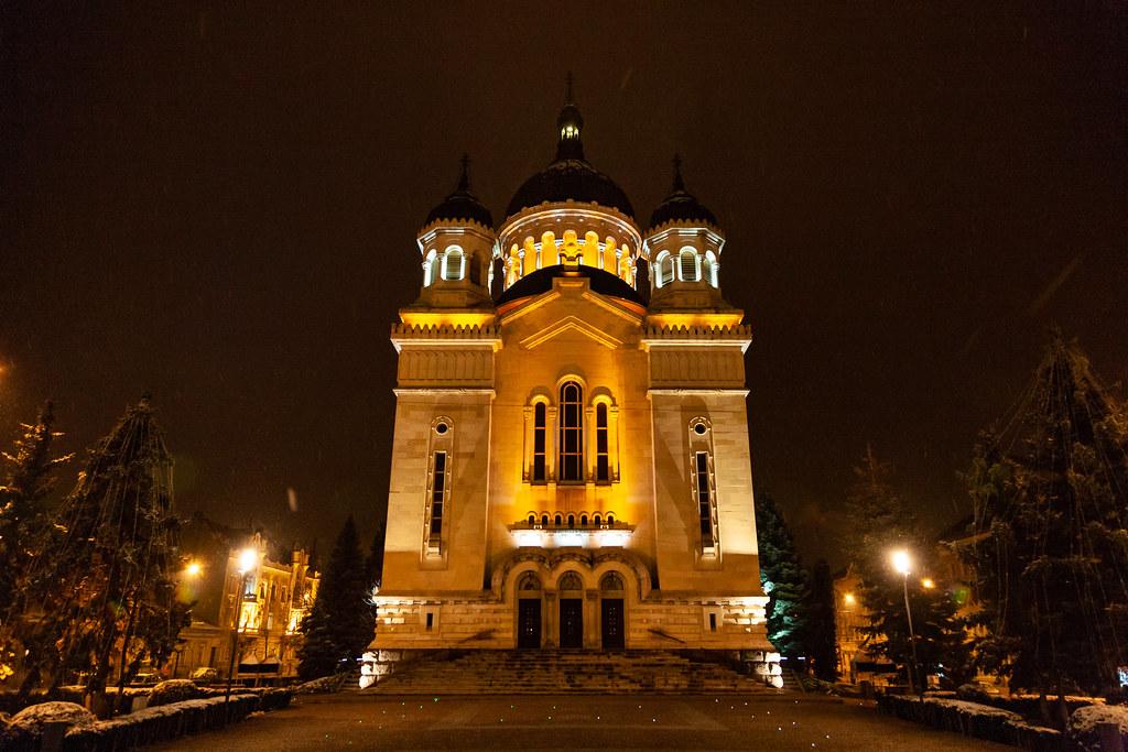 Cathedral at night