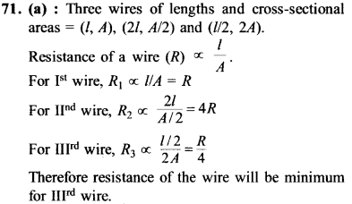 NEET AIPMT Physics Chapter Wise Solutions - Current Electricity explanation 71