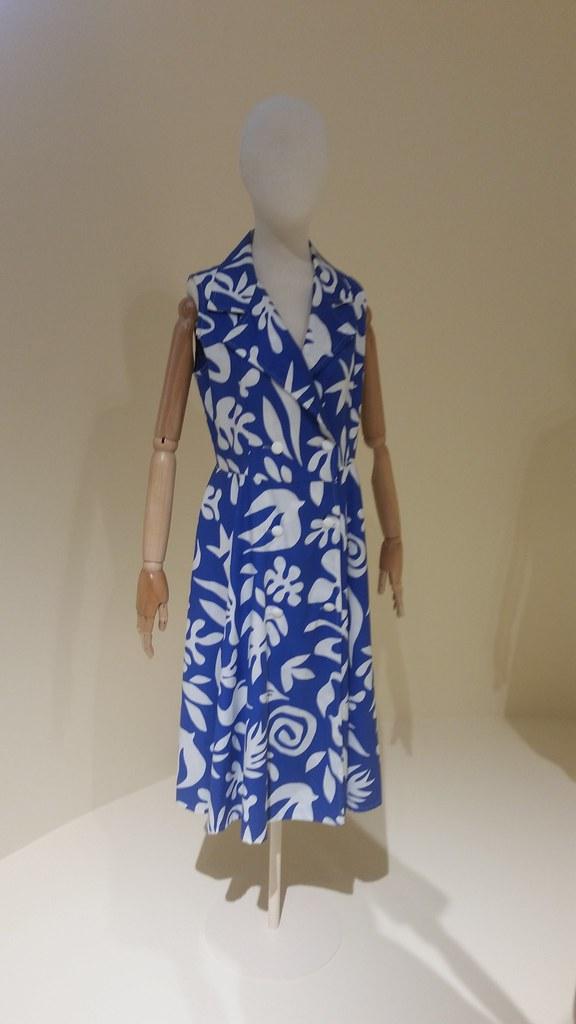 Платье из хлопчатобумажной ткани с набойкой по мотивам живописи Анри Матисса. Париж, начало 1970-х