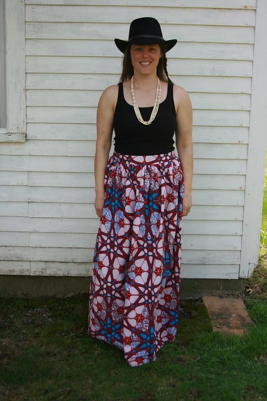 Ankara (Wax Print) Maxi Skirt