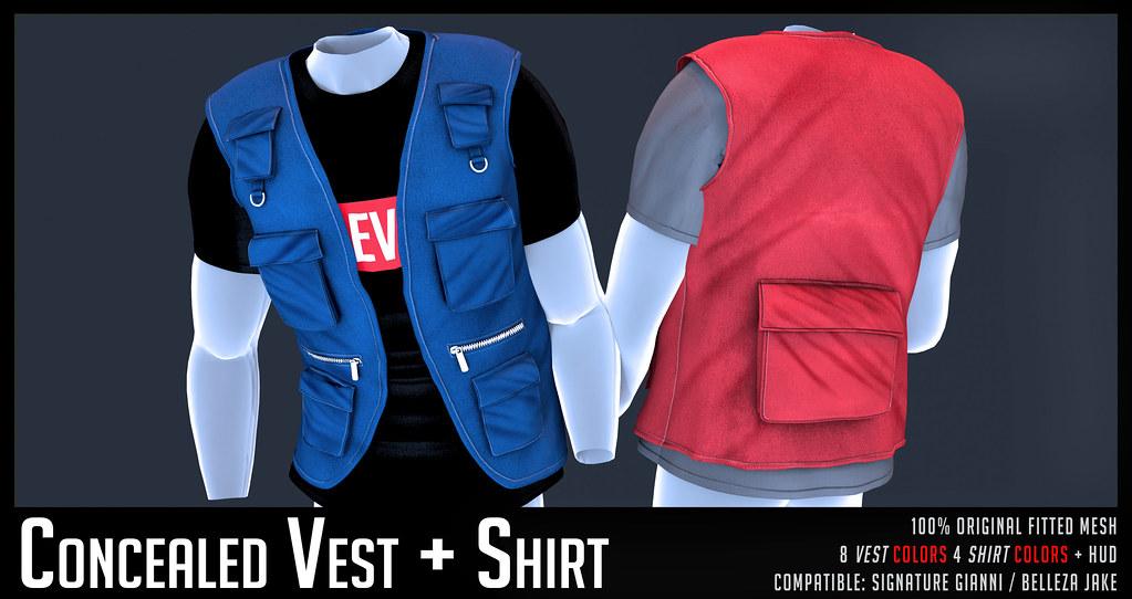 HEVO - Concealed Vest + Shirt - TeleportHub.com Live!
