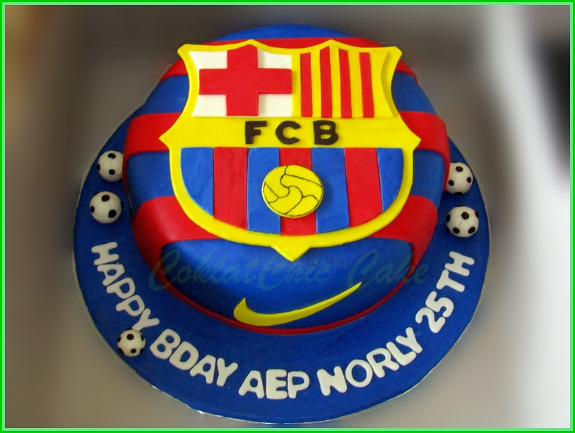 Cake FC BARCA AEP NORLY 22 cm