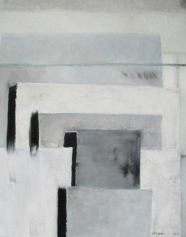 8 Hertz - 73X58 cm. Oil on canvas 2014