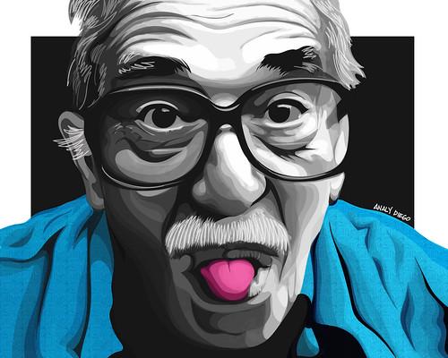 "Gabriel Garcia Marquez. From San Antonio Art Gallery Hosts ""Latino Faces"" Art Exhibit by Analy Diego"