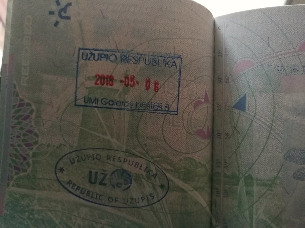 Passport stamp, Uzupis
