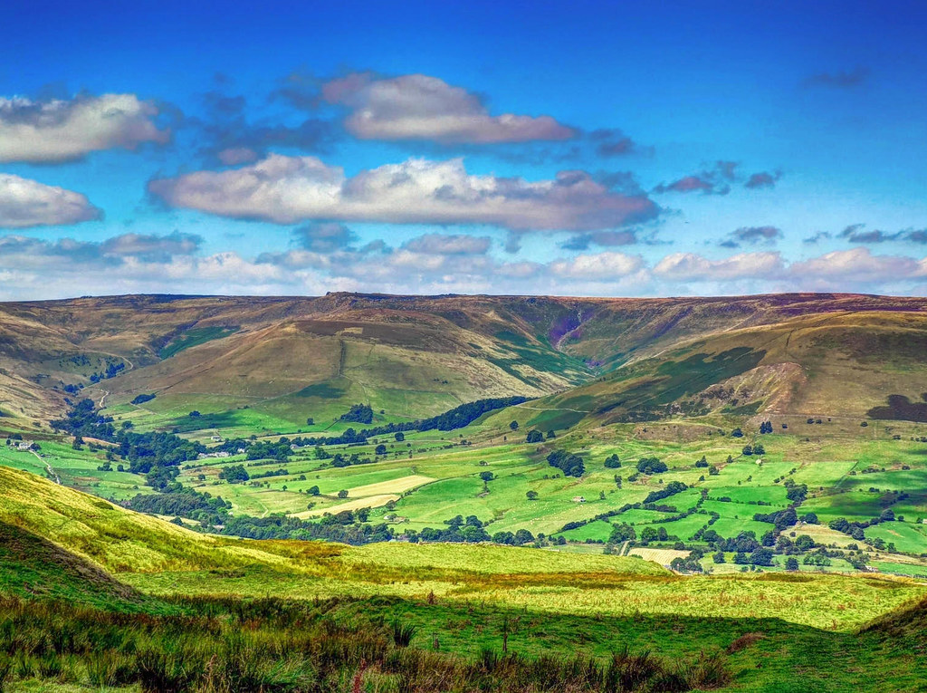 Edale in the Derbyshire Peak District. Credit Baz Richardson, flickr