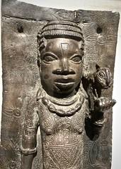 Detail of a Benin bronze plaque