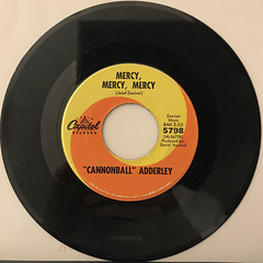 CANNNONBALL ADDERLEY:MERCY, MERCY, MERCY(RECORD SIDE-A)