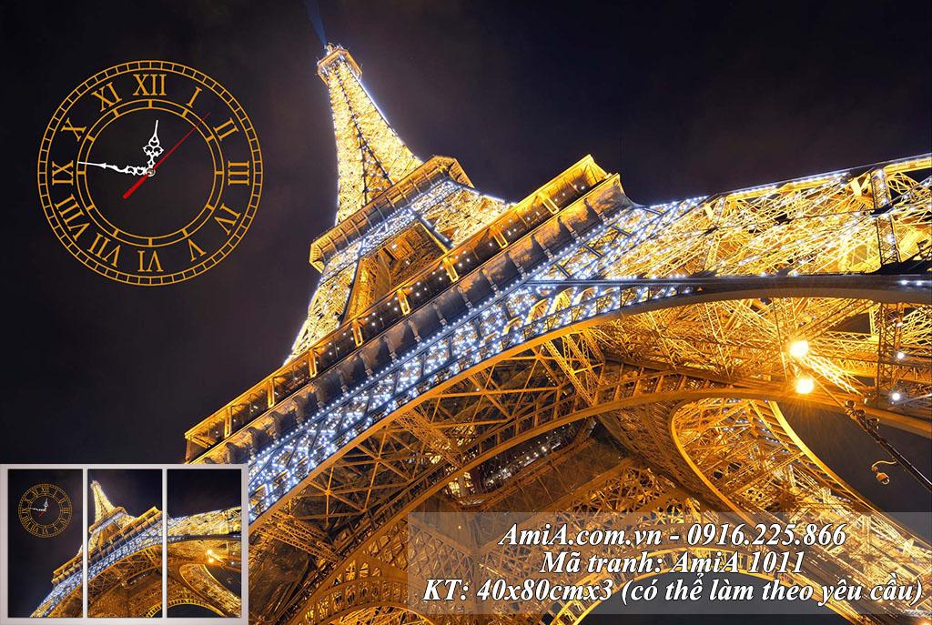 Tranh đẹp tháp Eiffel nổi tiếng thế giới kinh đô ánh sáng Paris Pháp