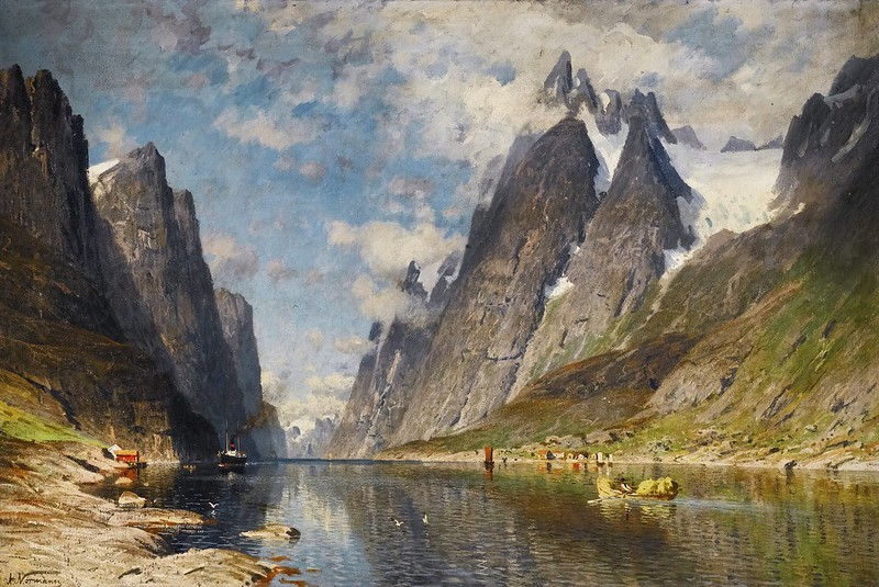 Adelsteen Normann - Norwegian Fjord, possibly the Sognefjord
