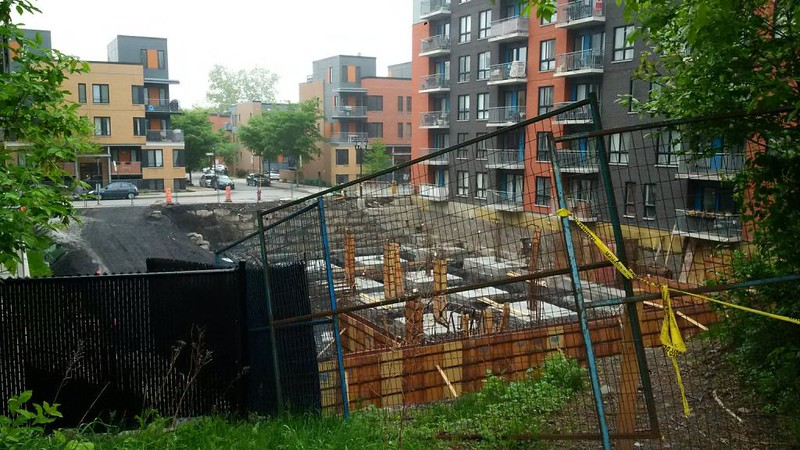 New construction in St-Henri