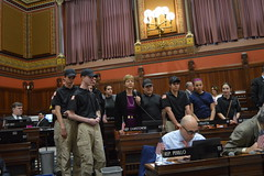 Rep. Zawistowski welcomes Suffield Police Explorers to the Capitol