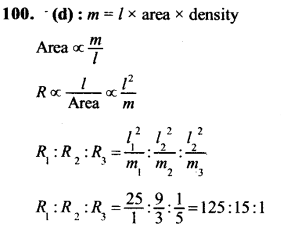 NEET AIPMT Physics Chapter Wise Solutions - Current Electricity explanation 100