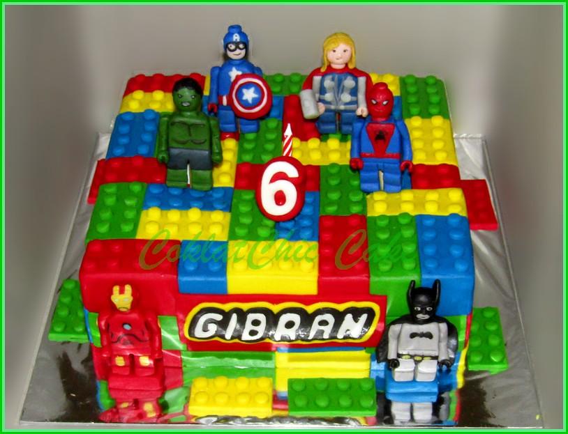 Cake Lego Superhero GIBRAN 24 cm