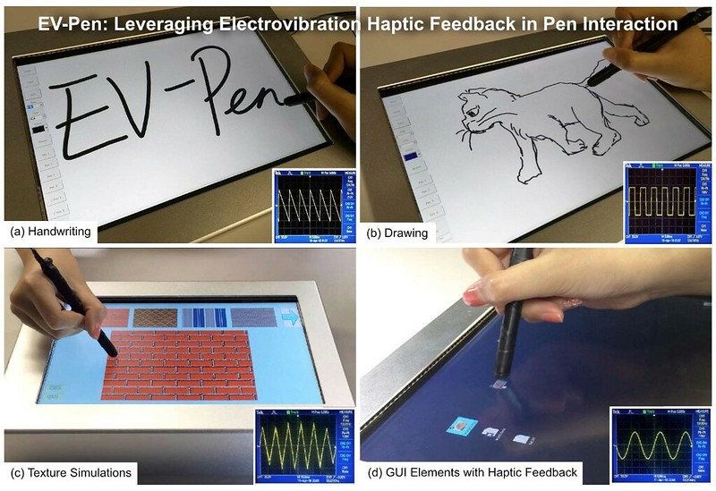 EV-Pen: Leveraging Electrovibration Haptic Feedback in Pen Interaction