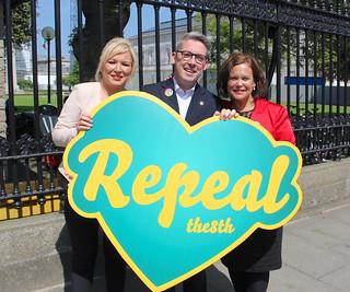 Michelle O'Neill MLA, Senator Niall Ó Donnghaile & Mary Lou McDonald TD