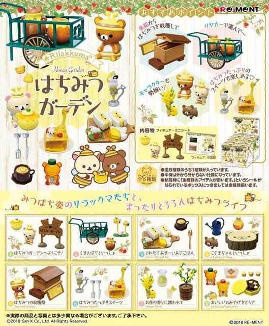 RE-MENT 《拉拉熊》「蜂蜜花園篇」美味登場!リラックマ はちみつガーデン