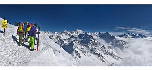 Verbier , Mont Gelé Panorama  No. 7713 14 15 16 Panorama. Canton of Valais , Switzerland. Izakigur 21.03.18, 14:54:04.