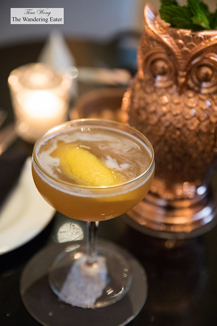 Earl of Jalisco - Earl Grey Infused Volcan Tequila, Agave, Peach Liqueur, Lime