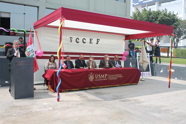 Facultad de Ciencias Contables, Económicas y Financieras inauguró el Primer Campeonato Deportivo de Fútbol, Vóley y Ajedrez 2018