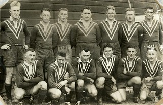 Ipswich rugby league team set to play England in an International Rugby League match in Ipswich, 1932