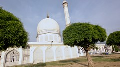 Brilliant white marble of the Hazratbal