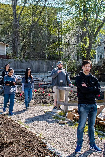 Liberty Mutual Volunteers at ReVision Urban Farm