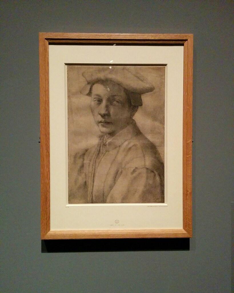 Portrait of Andrea Quaratesi #newyorkcity #newyork #metmuseum #metmichaelangelo #michaelangelo #andreaquaratesi #drawing #latergram