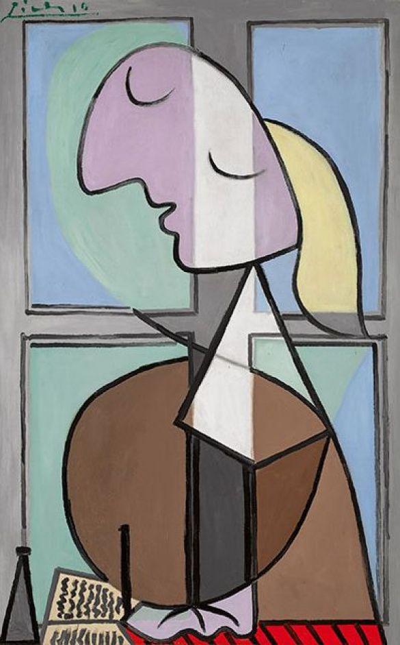Pablo PicassoBusteDeFemmeDeProfilFemmeécrivantOilOnCanvasPaintedInApril1932