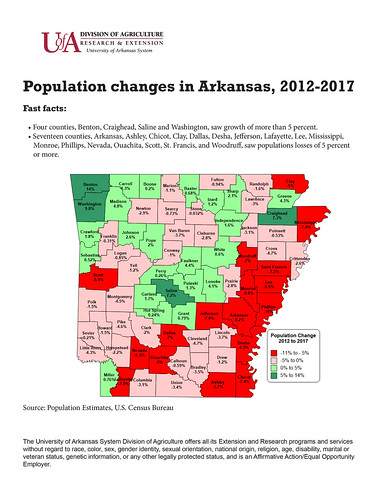 Two-thirds of Arkansas' counties lost population: What are
