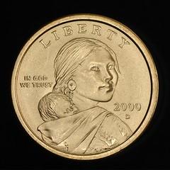 2000-D Sacagawea dollarobverse