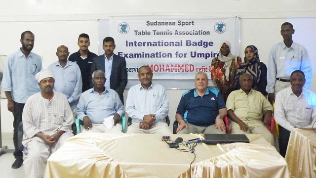 Sudan - 2018 ITTF Umpires Course