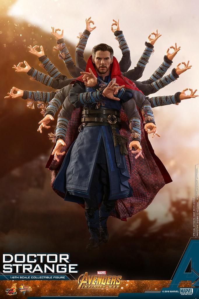 超多魔法特效件真的High 爆拉~~ Hot Toys – MMS484 –《復仇者聯盟3:無限之戰》奇異博士 Doctor Strange 1/6 比例人偶作品